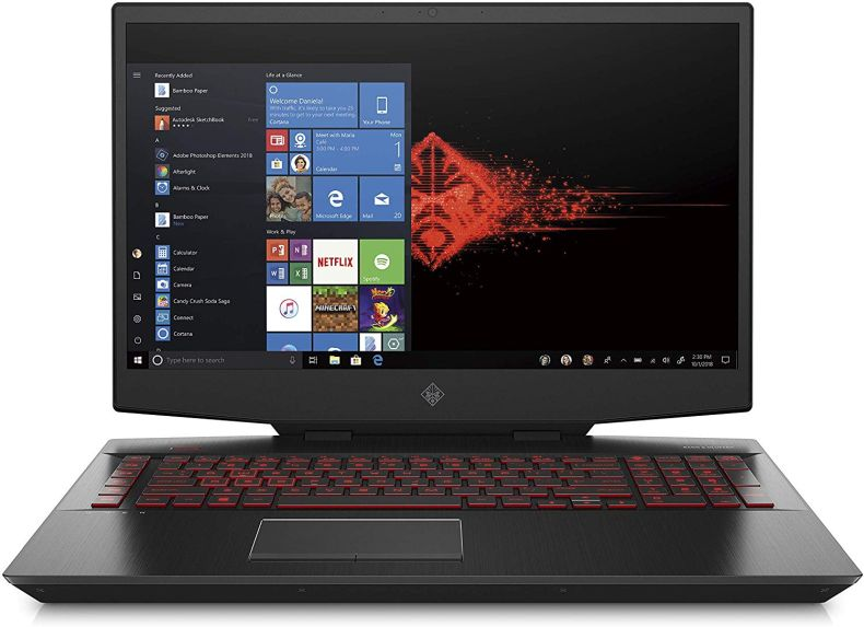 Omen by HP 2019 17-Inch Gaming Laptop, Intel i7-9750H Processor, NVIDIA RTX 2070 8 GB, 16 GB RAM, 256 GB SSD & 1 TB HDD, VR Ready, Windows 10 Home (17-cb0040nr, Black)