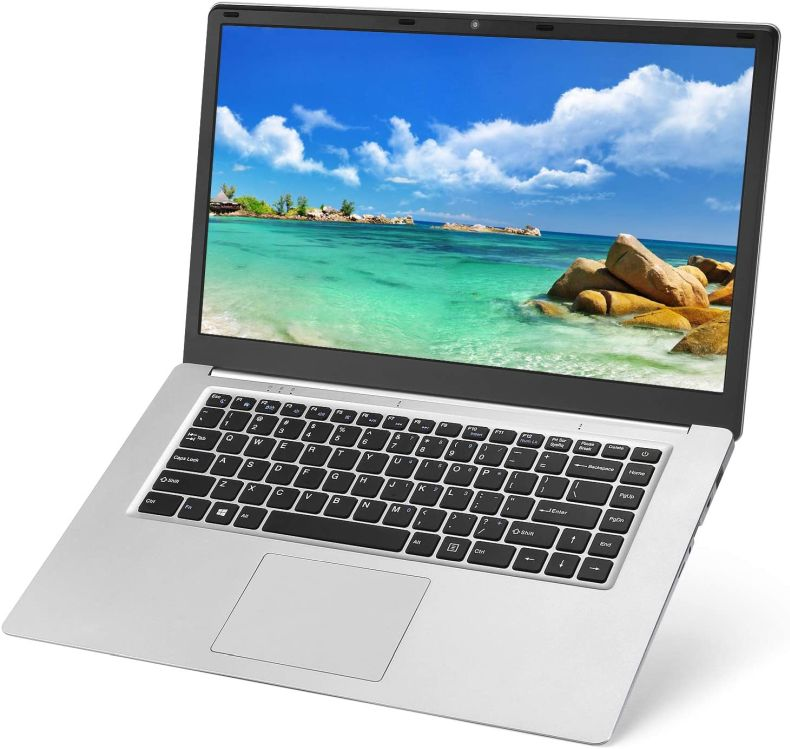 Laptop 15.6 inch Notebook 8GB RAM 128GB SSD YELLYOUTH Full HD 1920 x 1080 Intel CPU Quad Core Computer with WiFi HDMI Windows 10 Notebook Silver