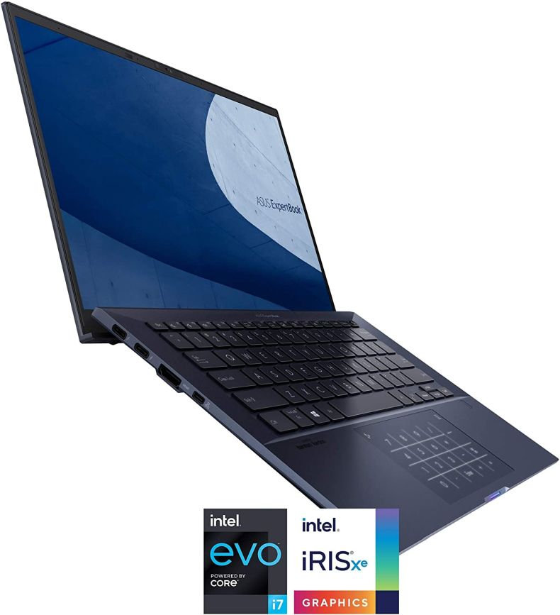 "ASUS ExpertBook B9 Thin & Light Business Laptop, 14"" FHD Display, Intel Core i7-1165G7 CPU, 1TB SSD, 16GB LPDDRX RAM, Windows 10 Pro, Up to 23 Hrs Battery Life, Sleeve, B9450CEA-XH75"
