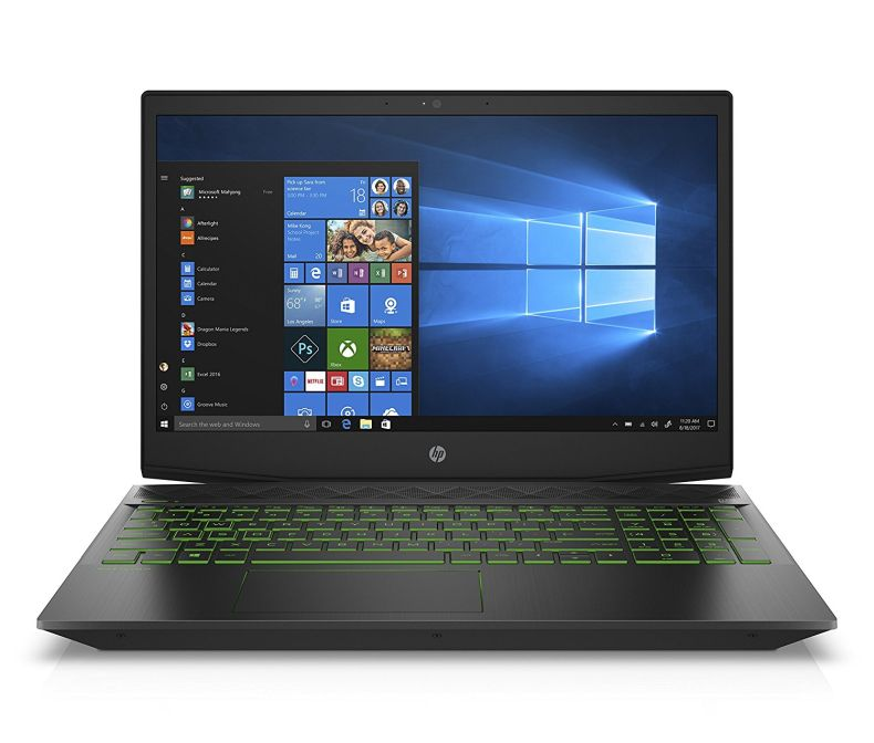 "Exclusive-HP Pavilion Gaming Laptop,15.6"" FHD IPS, Intel 8th Gen i5+8300H, NVIDIA GTX 1050Ti 4GB, 12GB RAM, 16GB Intel Optane Memory,1TB HDD, Narrow Border, Windows 10 Home (15-cx0049nr,Black)"