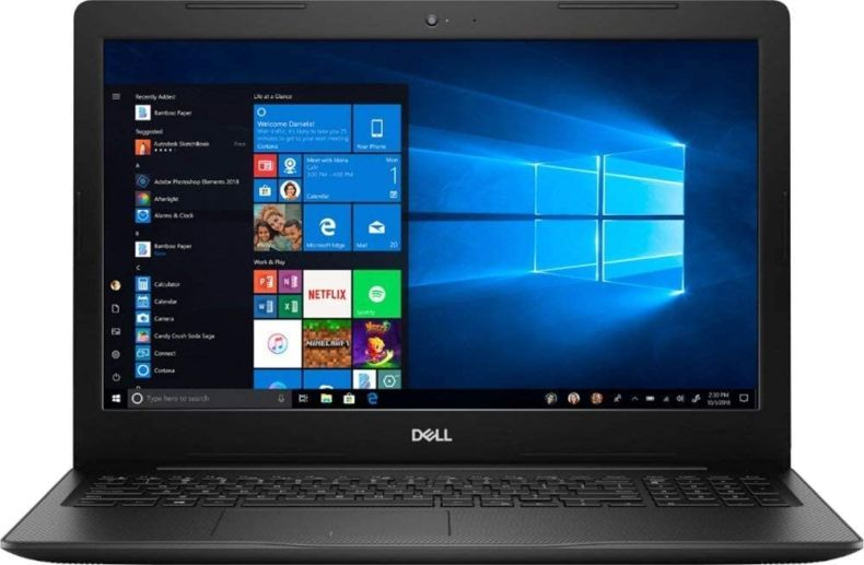 "Dell Inspiron i3583 15.6"" HD Touch-Screen Laptop - Intel i3-8145U - 8GB DDR4-128GB SSD - Windows 10 - Wireless-AC - Bluetooth - SD Card Reader - HDMI & USB 3.1 -Waves MaxxAudio Pro- Black"