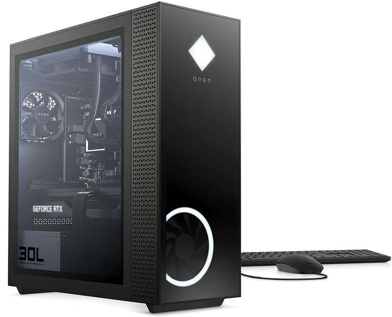 OMEN 30L Gaming Desktop PC, NVIDIA GeForce RTX 3080, Intel Core i9-10900K, HyperX 32 GB DDR4 RAM, 2 TB HDD & 1 TB PCIe NVMe SSD, Windows 10 Home, VR Ready, RGB Lighting (GT13-0093, 2020 Model)