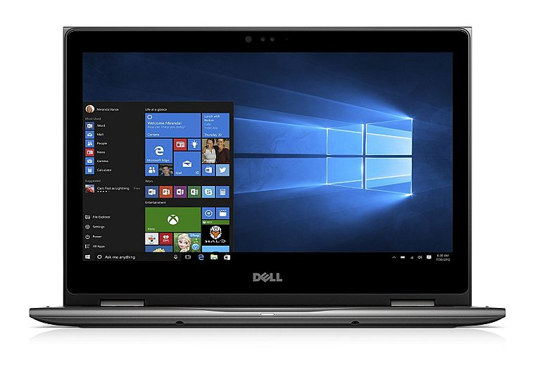 "Dell Inspiron i5378-2885GRY 13.3"" FHD 2-in-1 Laptop (7th Generation Intel Core i5, 8GB RAM, 1TB HDD) Microsoft Signature Image"