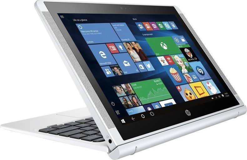 "HP Pavilion x2 Detachable Premium 2-in-1 Laptop Tablet,10.1"" HD IPS Touchscreen Intel Quad-Core Atom x5-Z8350, 32GB eMMC SSD, 2GB RAM, 802.11ac, Wifi, Bluetooth, Windows 10-Silver"
