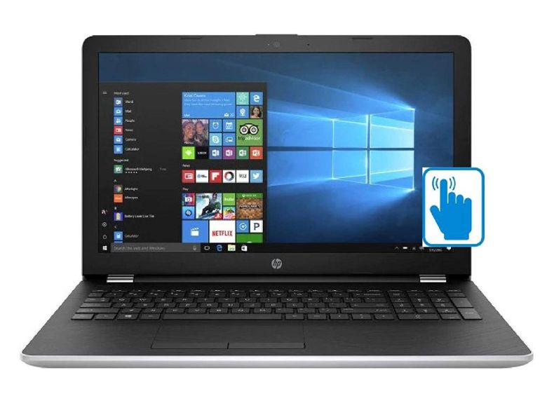 "HP 15.6"" Touchscreen Laptop PC, Intel Core i5-7200U, 8GB DDR4, 2TB HDD, Intel HD Graphics 620, 802.11ac, Bluetooth, DVD RW, USB 3.1, HDMI, Webcam, Windows 10 Home, Silver"