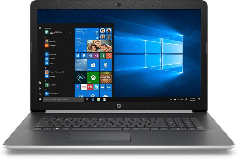 "Newest HP 17.3"" HD+ Notebook, Intel Core i7-8550U Processor, 20GB Memory: 16GB Intel Optane + 4GB RAM, 2TB Hard Drive, Optical Drive, HD Webcam, HD Audio, Windows 10 Home, Natural Silver"