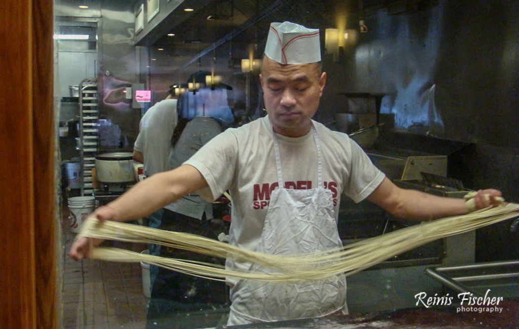 Noodles being prepared at Philadelphia's China Town