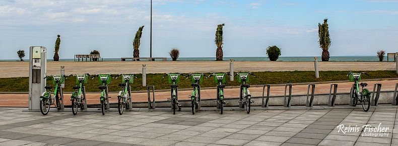 Bicycle rental at Batumi Miracle park