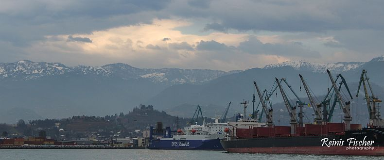 Cargo ships at Batumi port