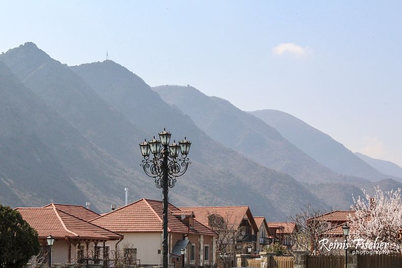 Mtskheta and surrounding mountains
