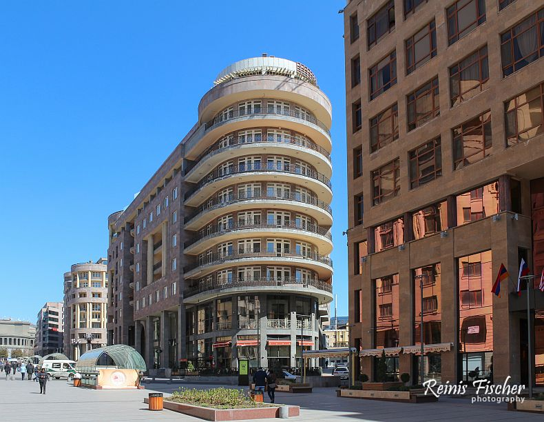 Architecture in Yerevan city center