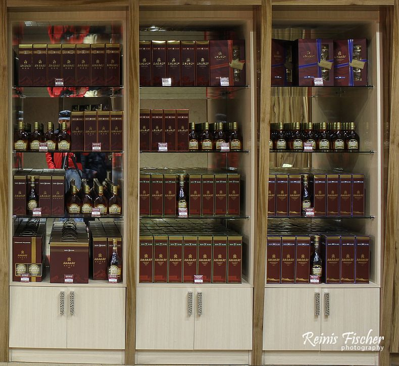 Small kiosk with Ararat brandy inside