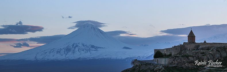 Khor Virap and Mount Ararat in Sunset