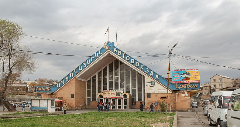 Kilikia bus station in Yerevan