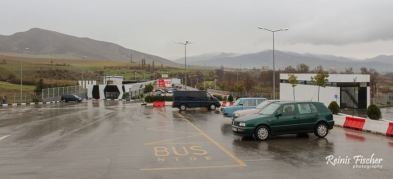 Service parking at Sadakhlo (Georgian side)
