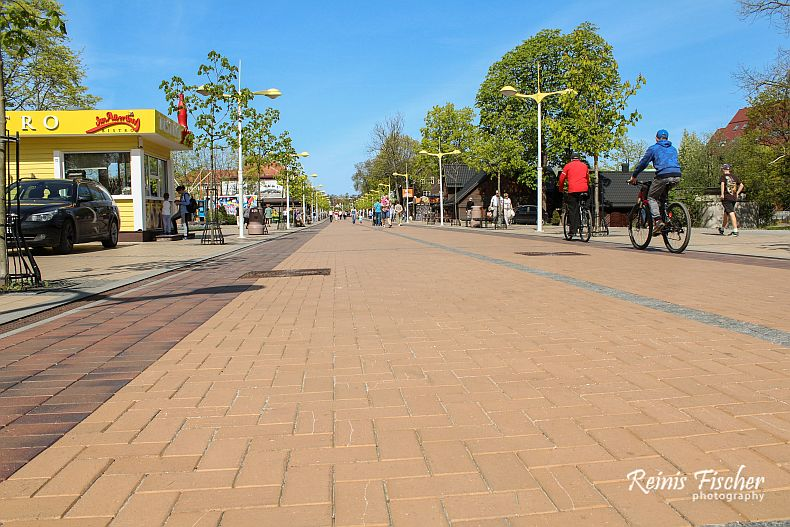 Walking / cycling street in Palanga