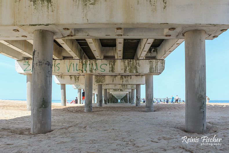 Under the Palanga Sea Bridge
