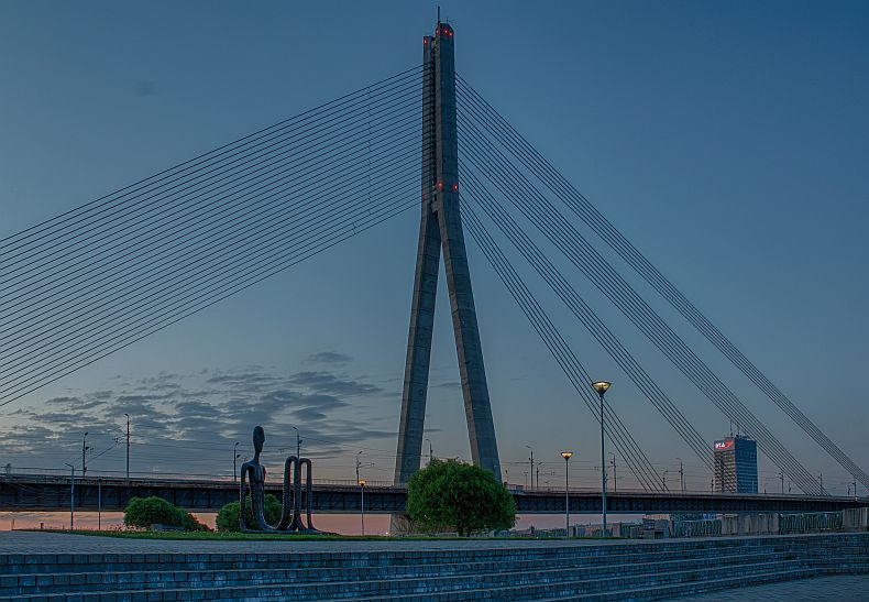 Vansu bridge in Riga