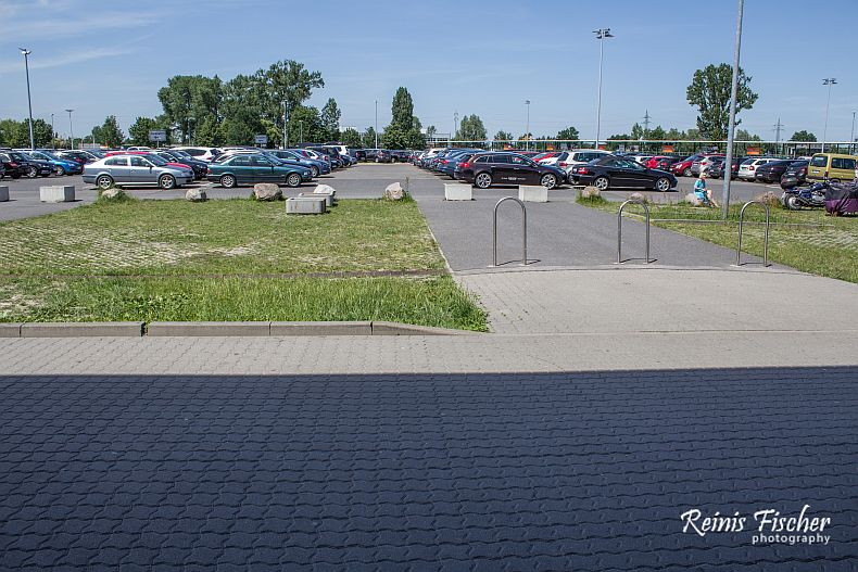 Parking lot near Berlin airport