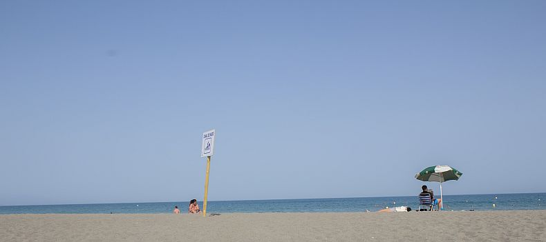 Swimming area in Playamar beach