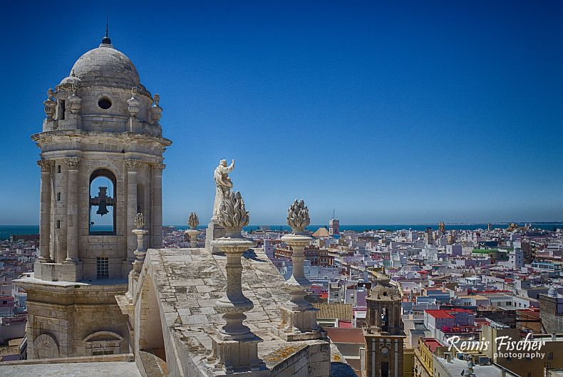 View from the Cadiz Cathedral tower