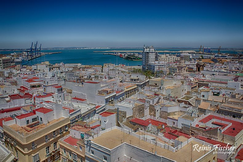 View towards bay of Cadiz