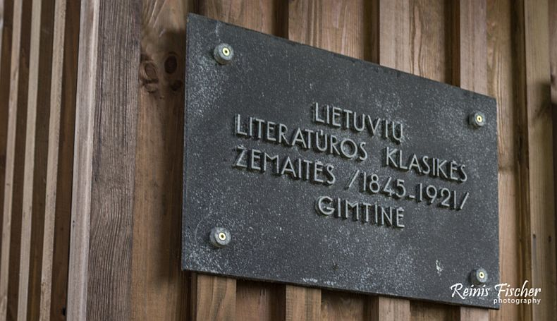 Birthplace of Lithuanian writer Zemaite