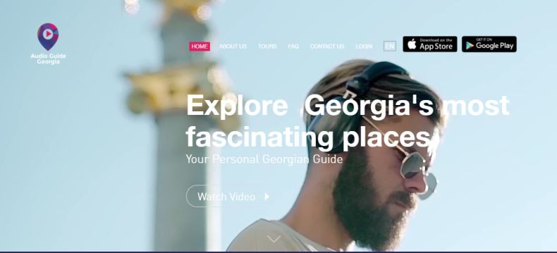 Screenshot of audioguidegeorgia.com