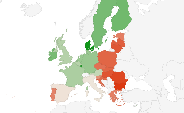 Average salary in European Union 2017