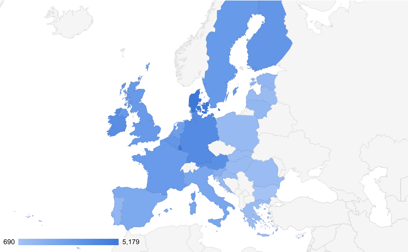 The average salary in European Union 2020