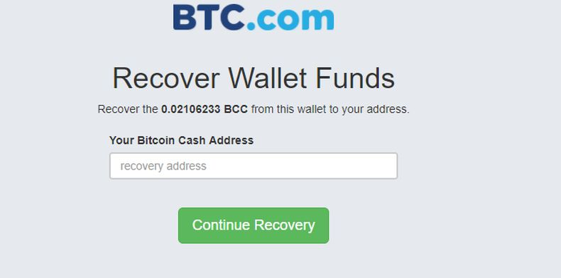 Recover Wallet Funds