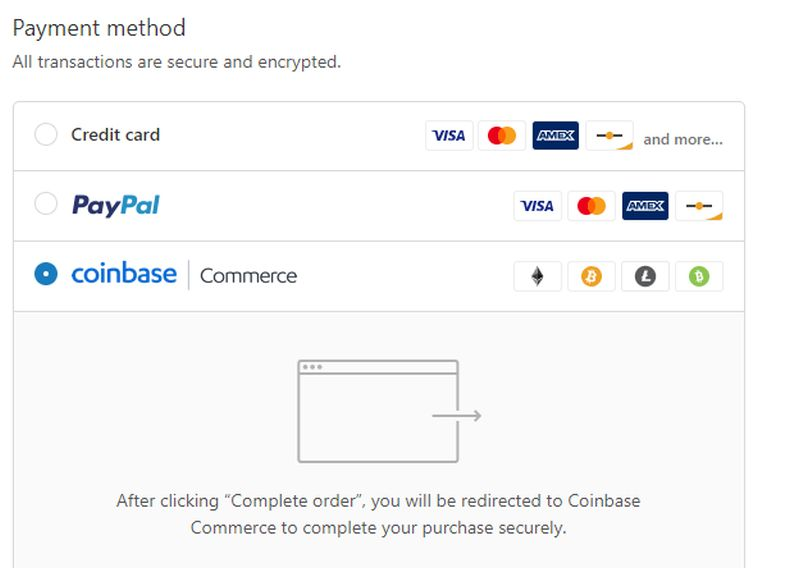 Accepting Bitcoin Payments on Shopify with Coinbase Commerce
