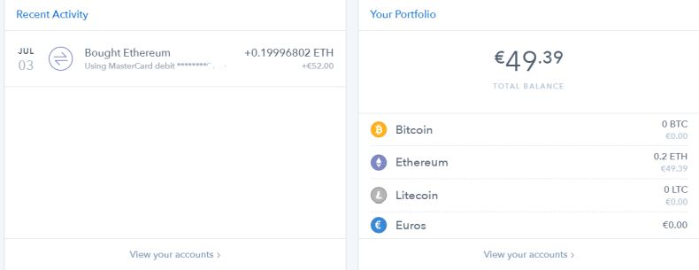 Buying crypto currencies on coinbase