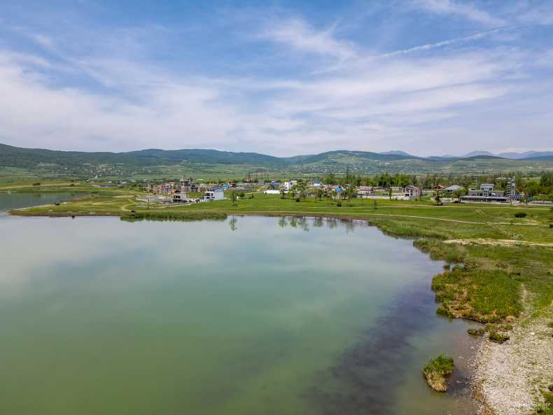 Bazaleti lake from a drone flight at the end of May 2021
