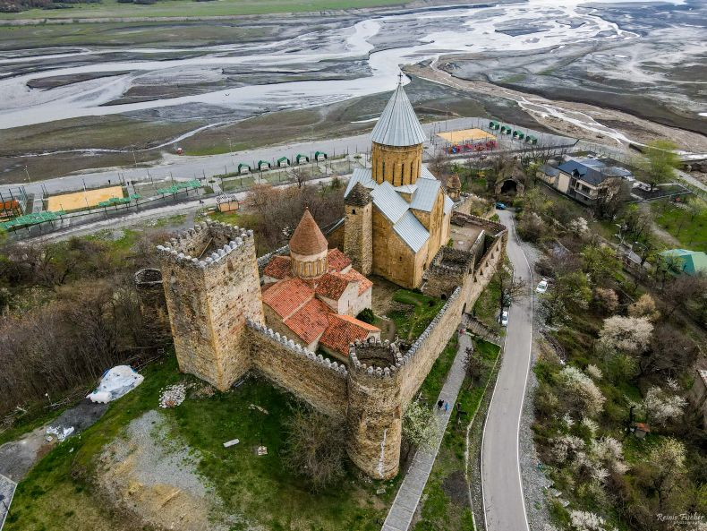 Ananuri castle complex in Georgia