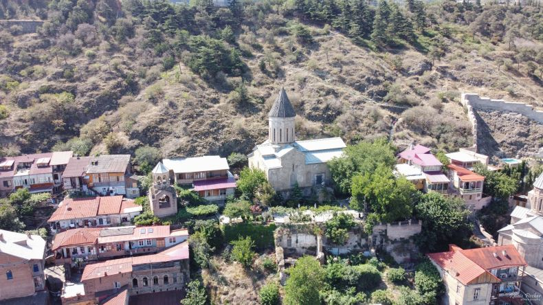 Holy Mother of God Church of Bethlehem, Tbilisi from a drone flight