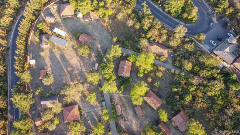 Open air museum from a drone flight