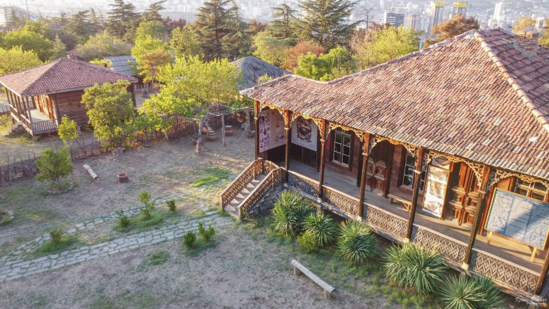 Dwelling houses at Open air museum in Tbilisi