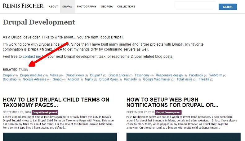 Listing related tags on Drupal taxonomy page