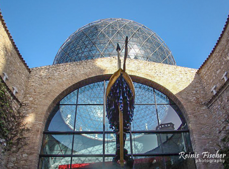 Glass dome roof at Salvador Dali museum in Figueras