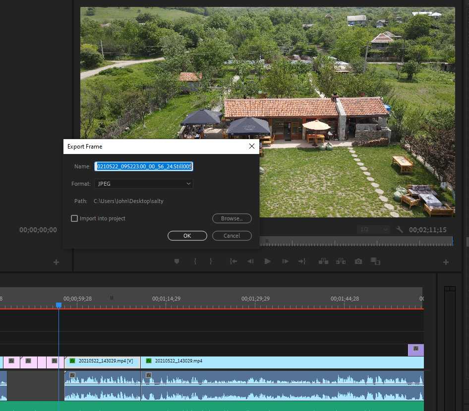Export Frame from Adobe Premiere Pro