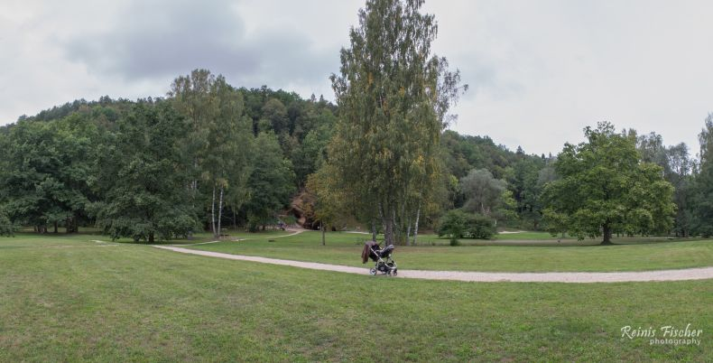 Panoramic photo from Sigulda