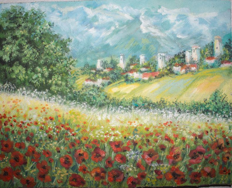 Poppy fields in Svaneti by Nino Jikia