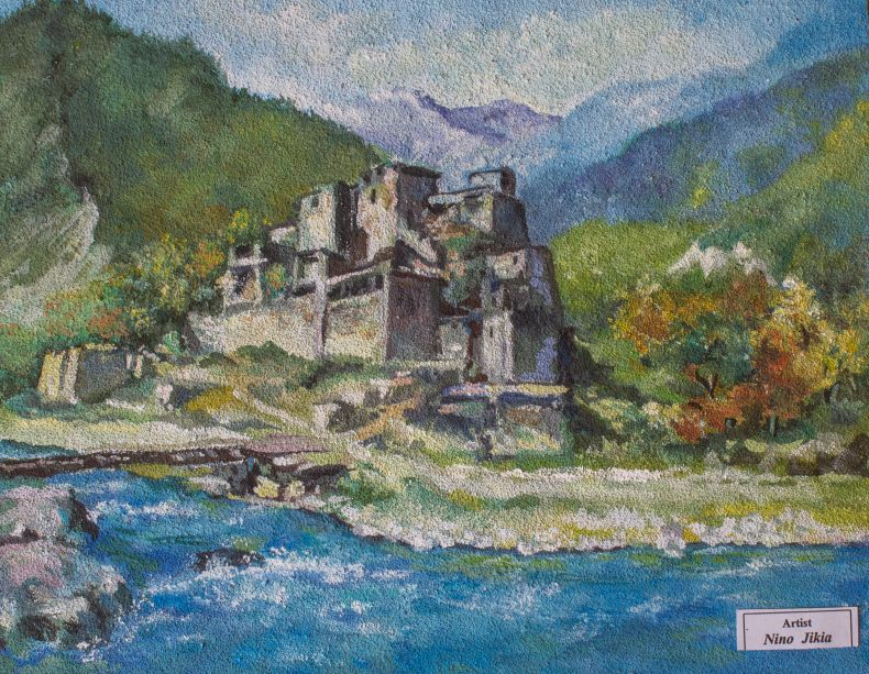 Shatili village in Georgia by Nino Jikia