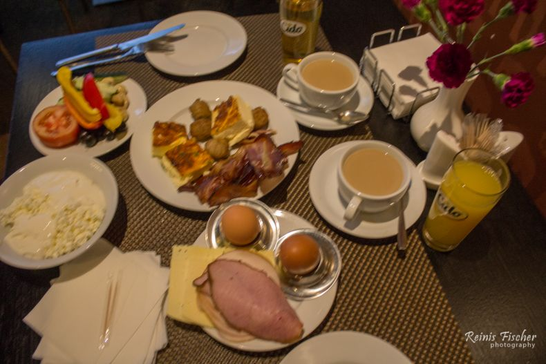 Breakfast at Rixwell Elefant hotel Riga