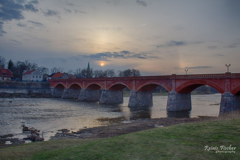 Brick bridge in Kuldīga