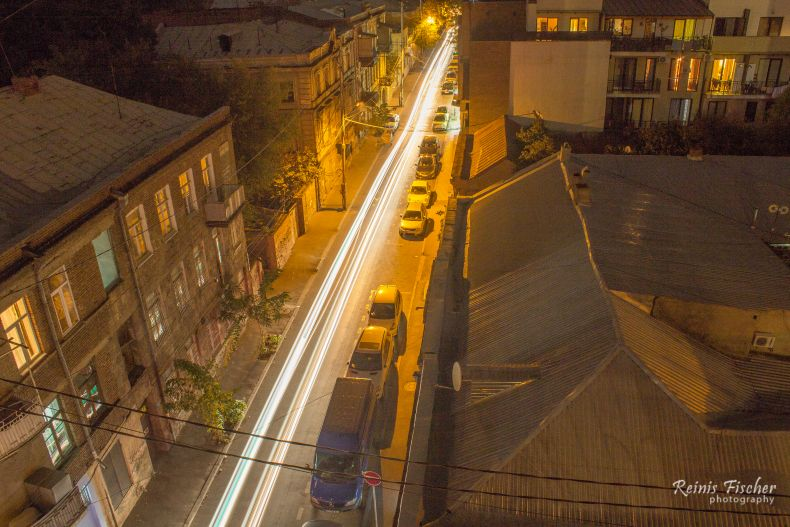 Tbilisi by night - long exposure