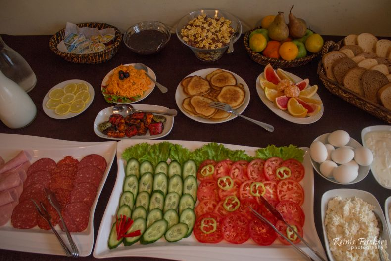 Breakfast at Gino Wellness Hotel in Mtskheta