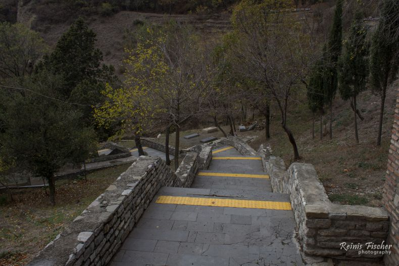 Stairways at Shio Mgvime monastery complex