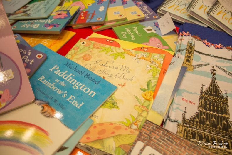 Kid books at British embassy stand